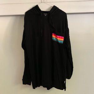 Pride rainbow detail hoodie